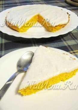 Морковно-кокосовый торт с лимонным кремом