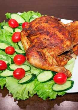 Жареная целиком курица в мультиварке - простой новогодний рецепт горячего блюда