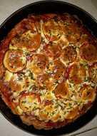 Пицца с заливкой из творожного сыра #непп