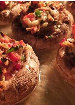 Фаршированные грибы,ну оооочень вкусные)))!