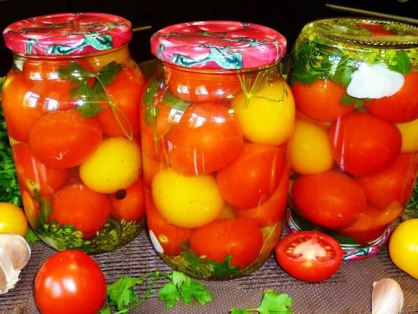 Очень вкусные маринованные помидоры на зиму #заготовки