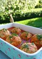Куриные тефтели в томатном соке
