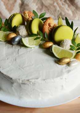 Торт с маскарпоне и джемом