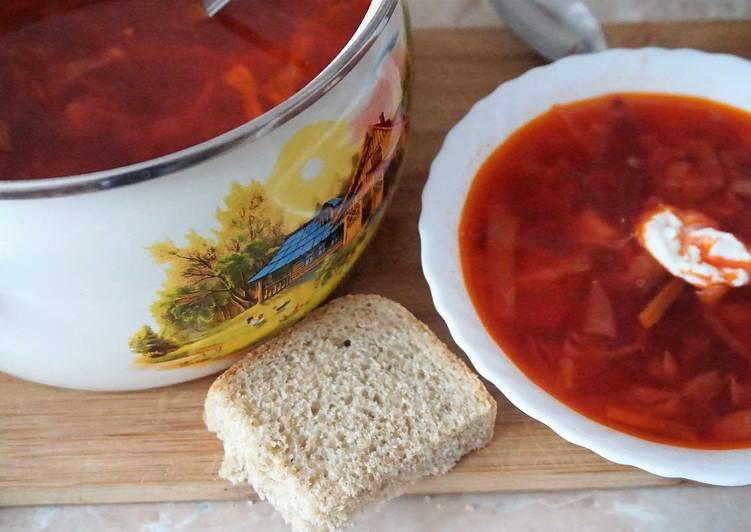 борщ красный рецепт с фасолью
