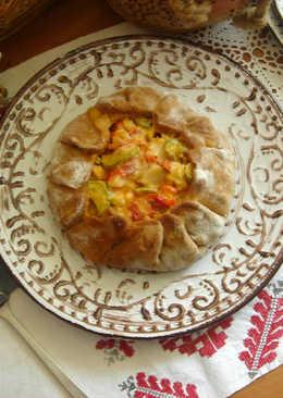 Галета с овощами и крабовыми палочками с натуральным мясом краба