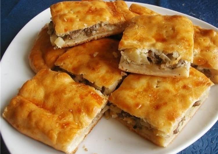 Рыбно-картофельный пирог по-старорусски