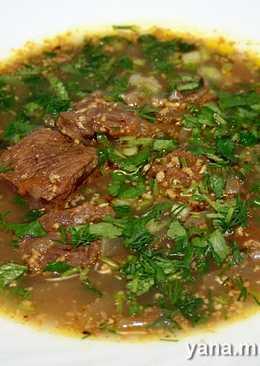 Суп-харчо с орехами в скороварке