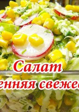 """Салат """"Весенняя свежесть"""" (из свежей капусты)"""