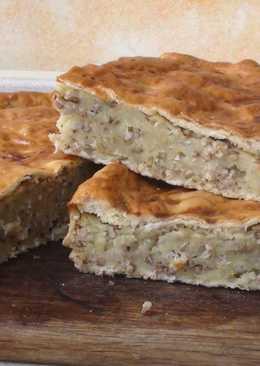 Яворівський пиріг/Пирог с картошкой и гречкой. Постный пирог