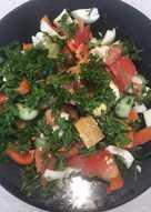 Легкий салат на скорую руку 😋😋😋