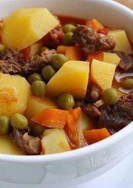 Жаркое с мясом и картофелем