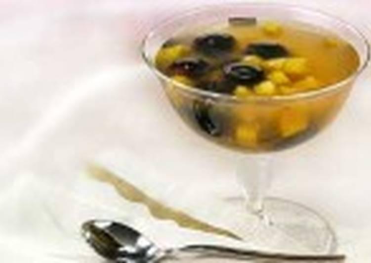 Кисель из винограда и манго