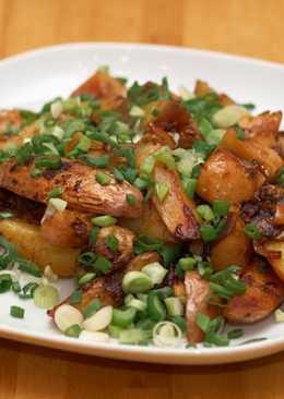 Жареная картошка с грибами, рецепт