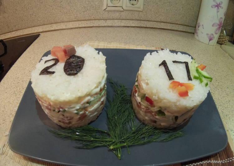 Салат- суши на праздничный стол