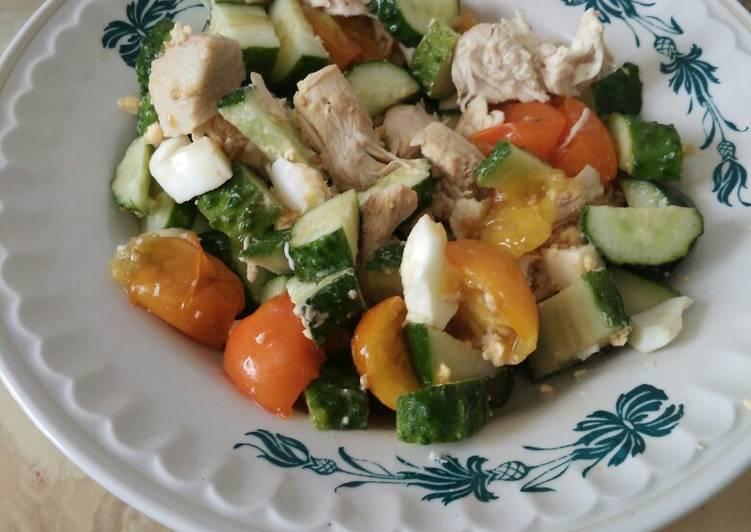Лёгкий салат с курицей #пп