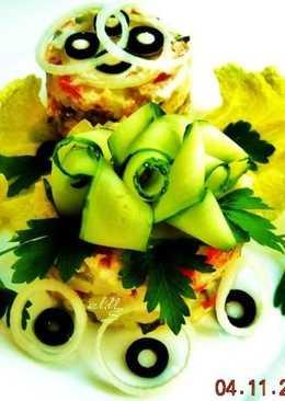 Рыбный салат для праздничного стола