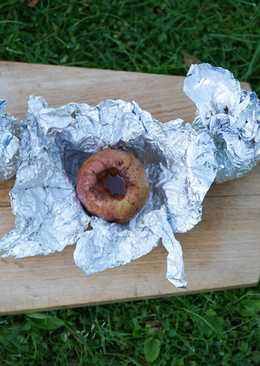 Печеные яблоки на мангале