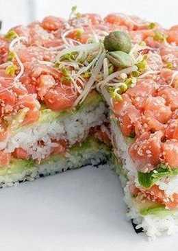 Суши-тортик для праздничного стола