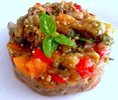 Универсальный салат из запеченных баклажанов 🍆🍆🍆