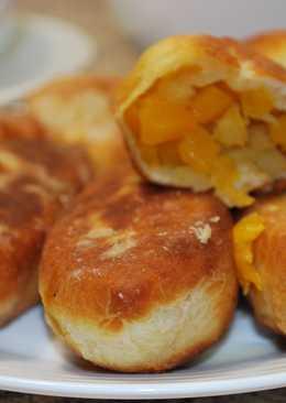 Пирожки с тыквой и яблоками! (тесто на кефире)