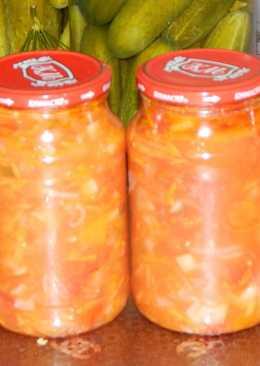 Овощной салат на зиму без стерилизации