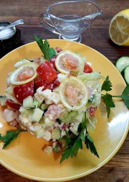 Салат - коктейль с красной рыбой на новогодний стол