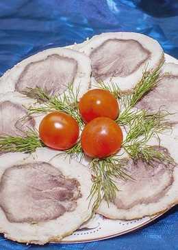 Рулет из свинины и языка на праздничный стол