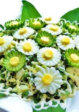 Салат с черемшой (дикий чеснок)