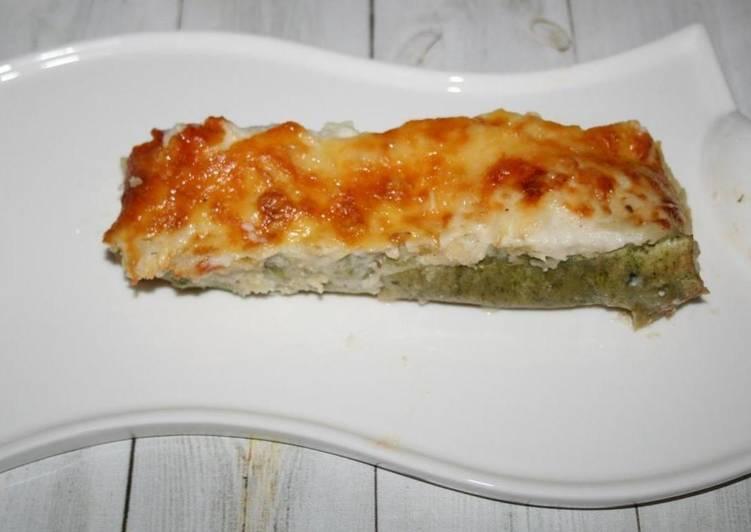 Ленивые трубочки каннеллони (cannelloni) под соусом бешамель, простой домашний рецепт