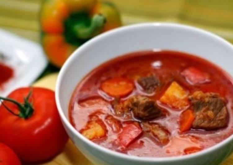 Суп-гуляш с говядиной по-закарпатски