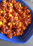 Красная фасоль с мясом (вариация на темуChili con carne)