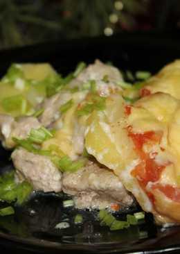 Свинина с картофелем под соусом бешамель