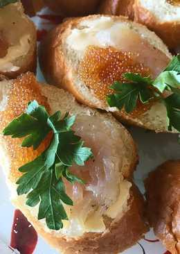 Бутерброды с рыбой и икрой