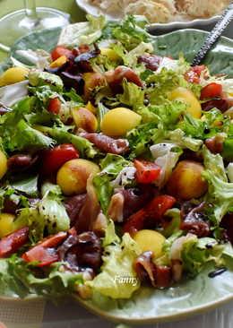 Салат с копченой уткой