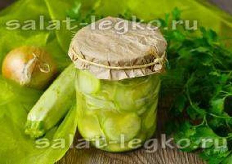 Рецепт салата из кабачков и лука на зиму