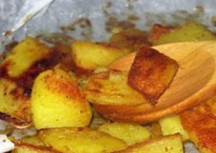 Постный картофель с горчицей