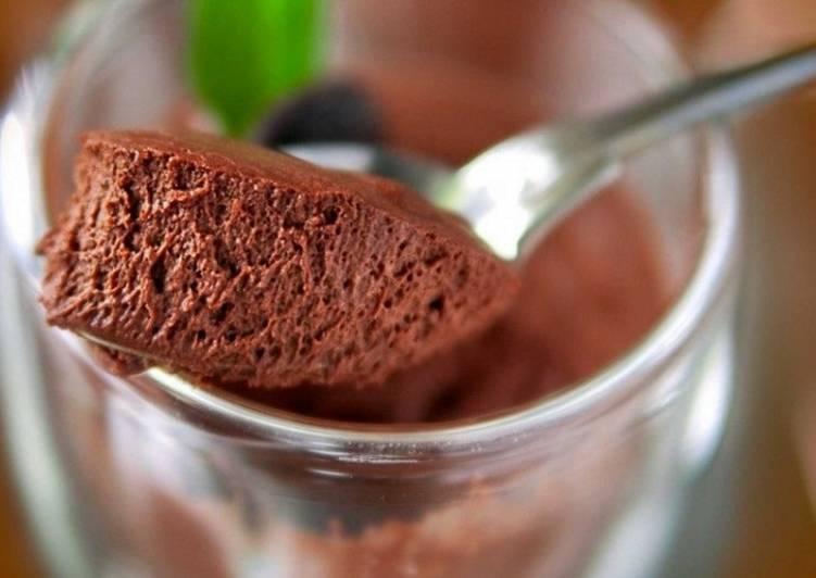 Постный шоколадный мусс