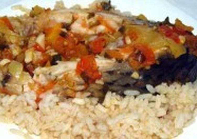 Рис с рыбой и овощами по-восточному