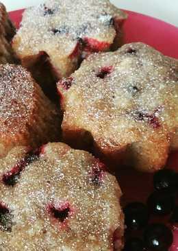 Творожные маффины с ягодой! 🍒🍓🍒