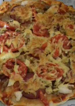 Домашняя мясная пицца