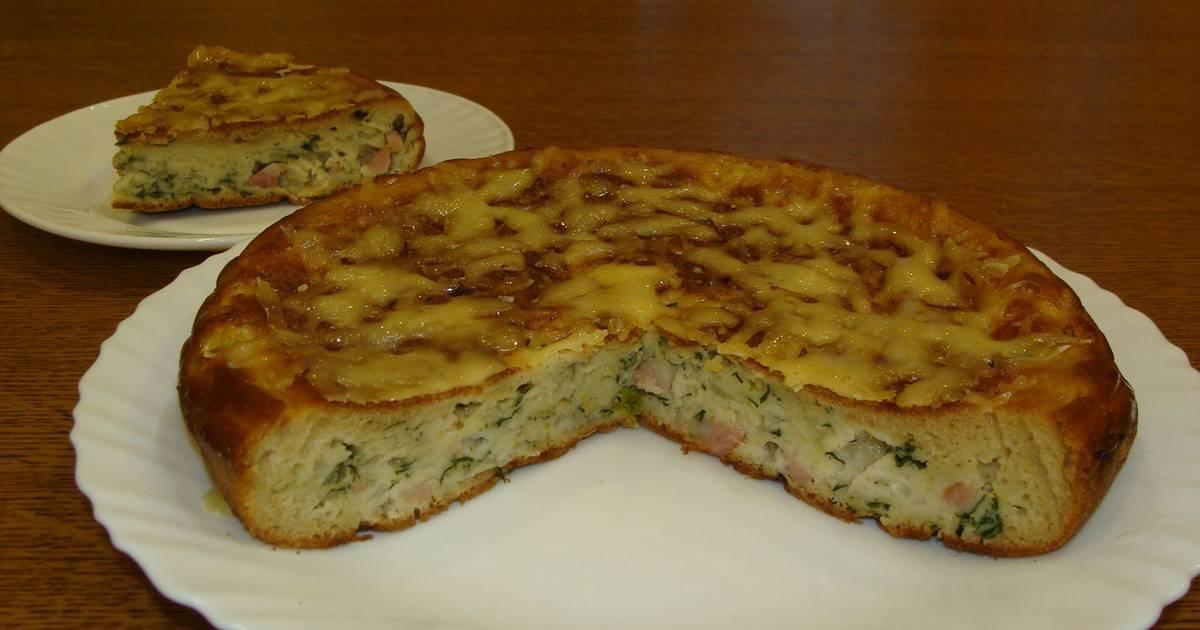 пирог на сковороде с капустой