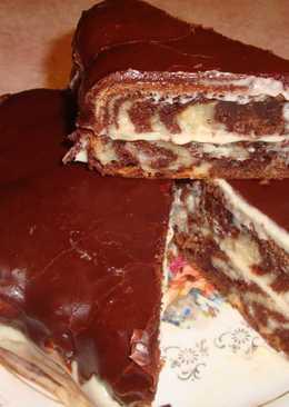 """Торт """"Полосатик"""""""