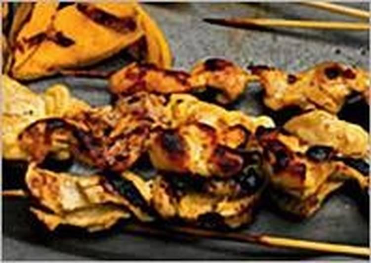 Шашлыки из курицы с манго
