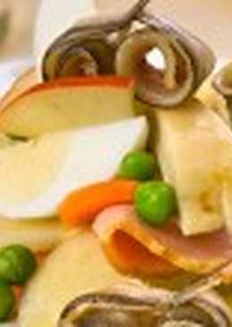 Салат с килькой (3)