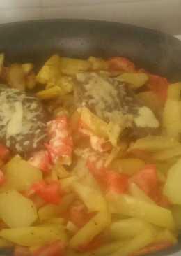 Стейк с овощами по осеннему
