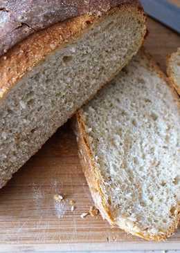 Тёмный домашний хлеб из 3-х сортов муки