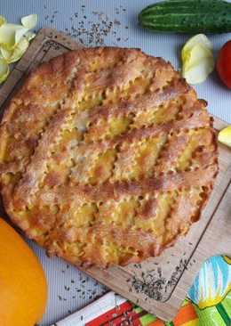 Тыквенный пирог с начинкой