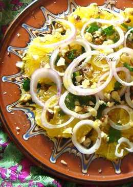 Марокканский салат с апельсином и луком