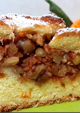 Постный яблочный пирог. рецепт пирога без яиц
