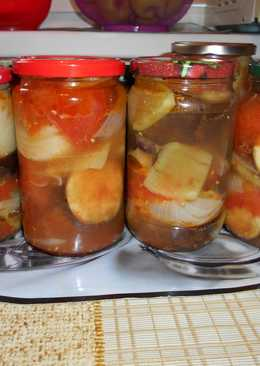 Салат на зиму из овощей «Четверочка»